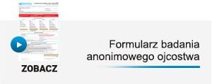 formularz zlecenia testu na ojcostwo